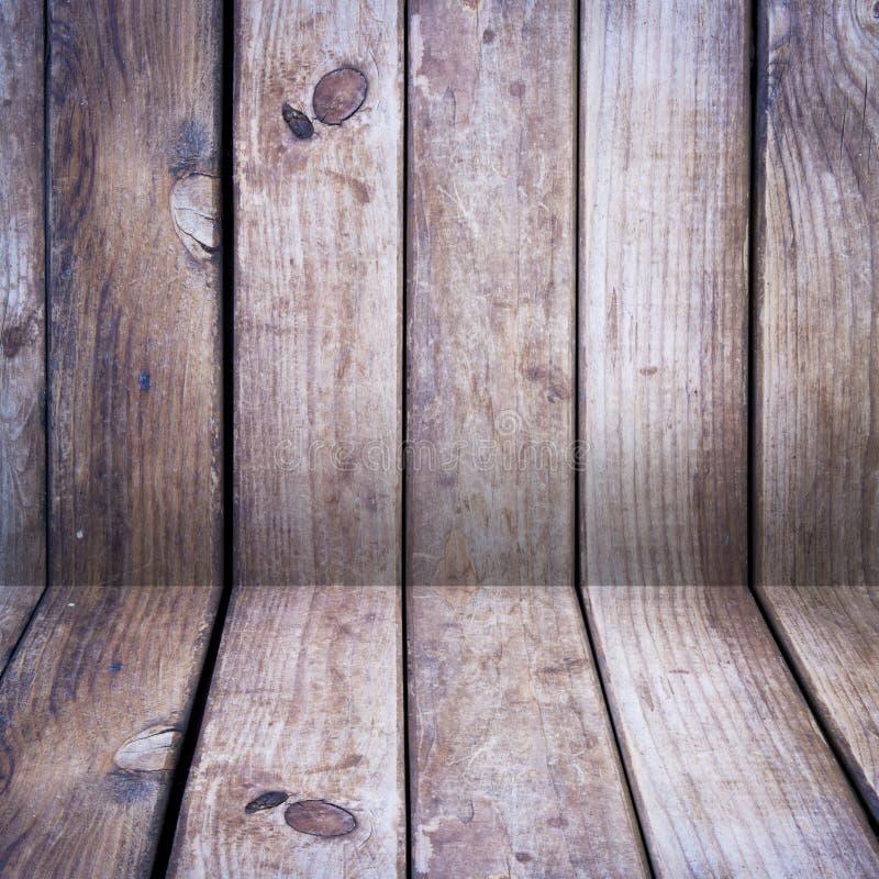 木楼层和墙壁 免版税库存图片