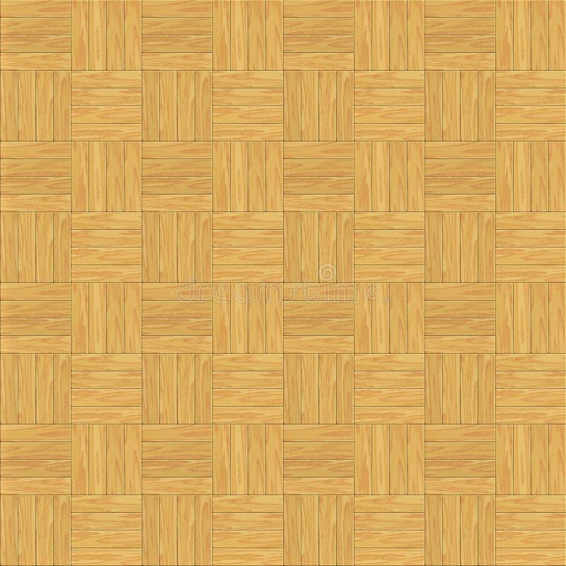 木楼层层压制品的瓦片 向量例证