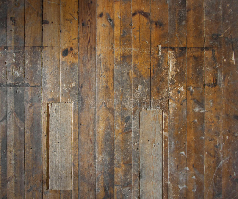 木楼层老的墙壁 库存照片