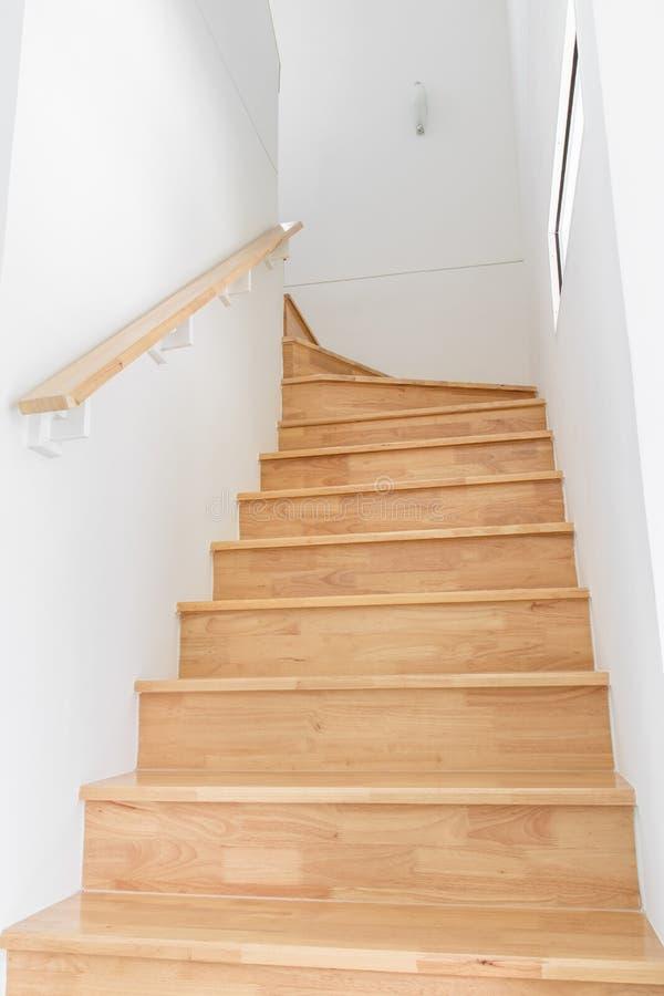 木楼梯 库存照片