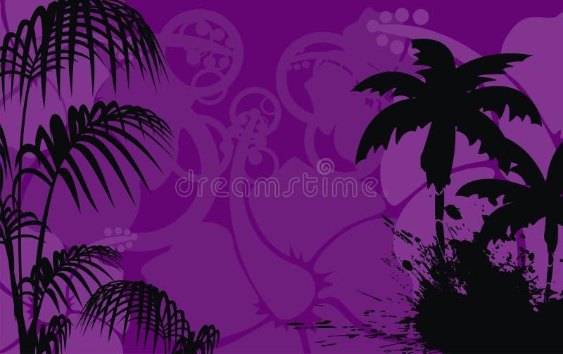木槿花热带夏威夷人background3 向量例证