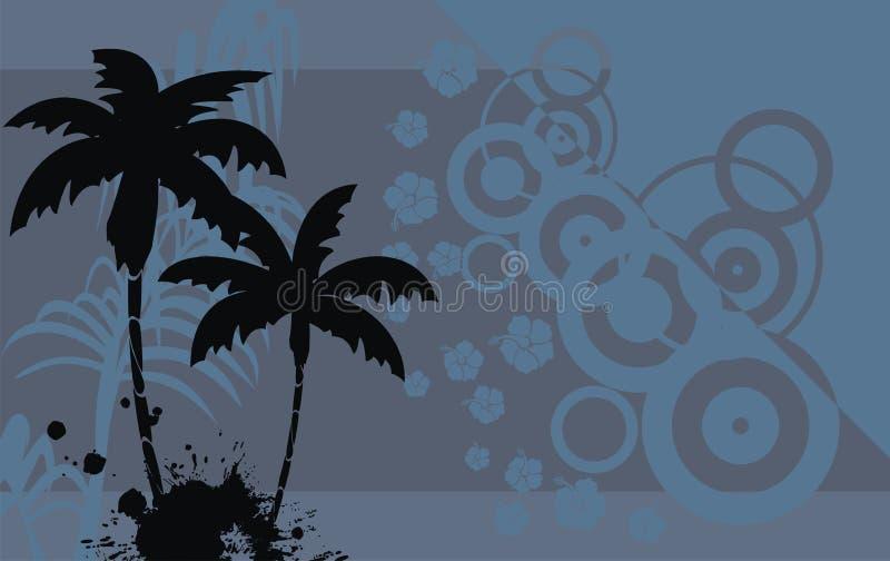 木槿花热带夏威夷人background8 向量例证