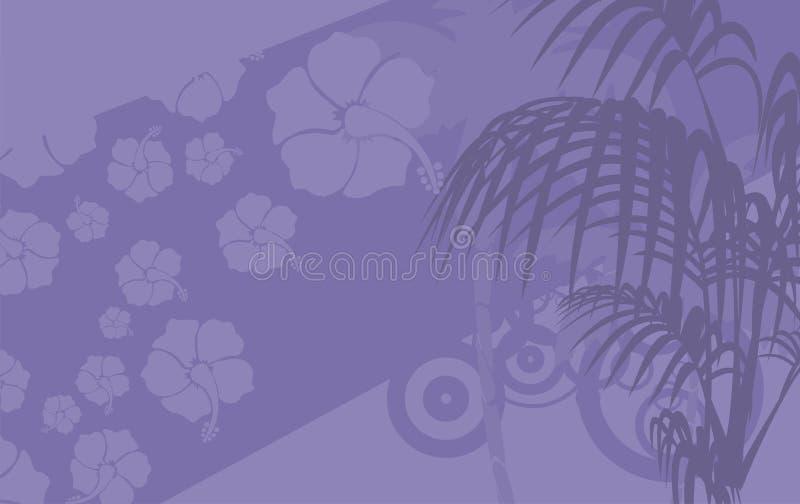 木槿花热带夏威夷人background9 库存例证