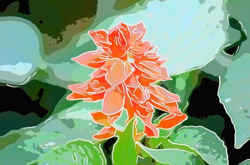 木槿花艺术  免版税图库摄影