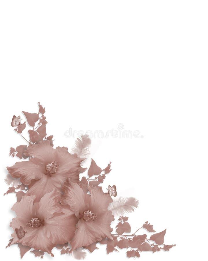 木槿邀请单色粉红色 库存例证