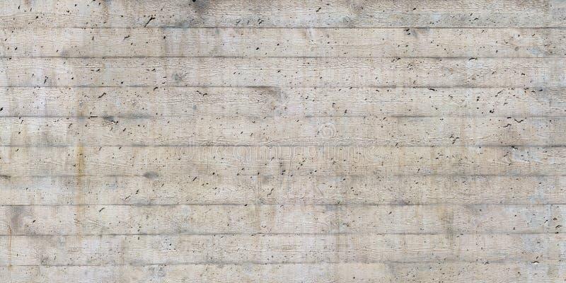 木模板纹理在一个未加工的混凝土墙盖印了 库存照片