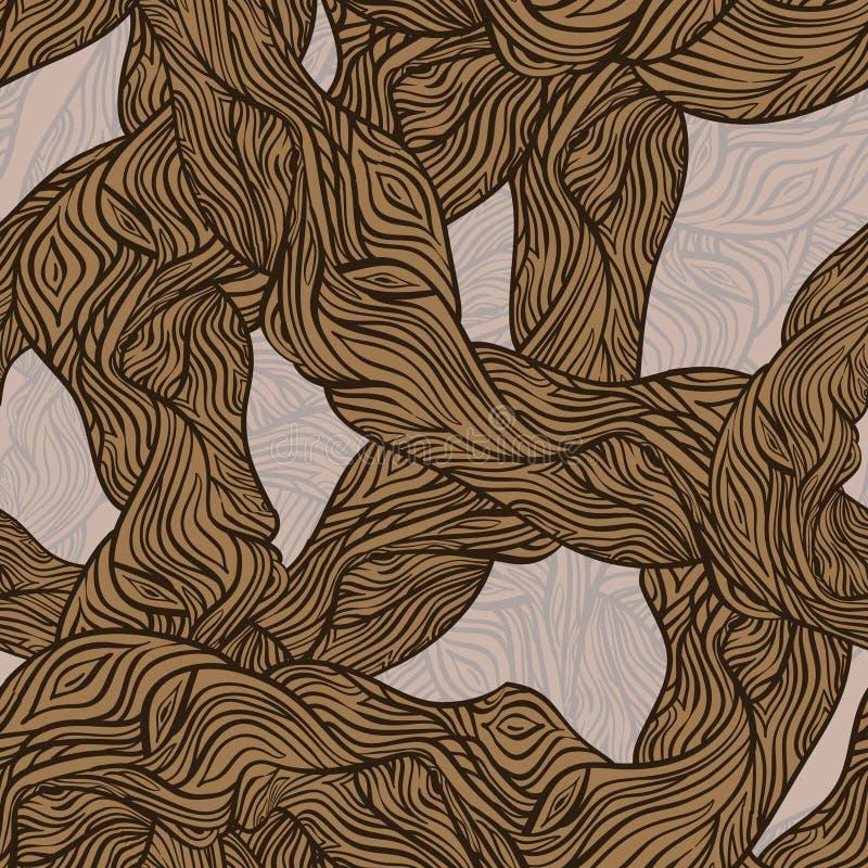 木橡木无缝的纹理的结构树 库存例证