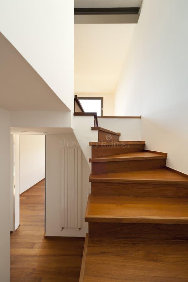 木段落的楼梯 库存照片