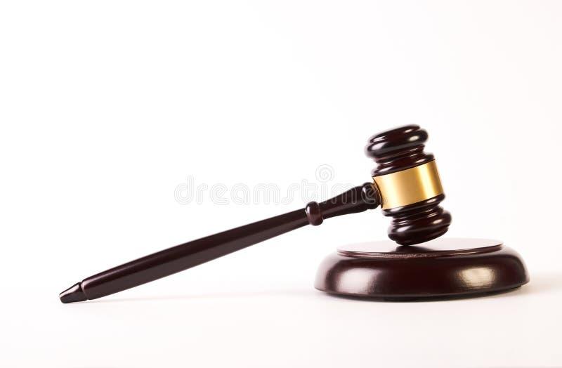 木法官惊堂木或法律锤子 库存照片