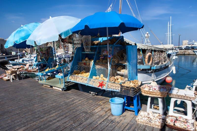 木渔船在希腊 免版税库存照片