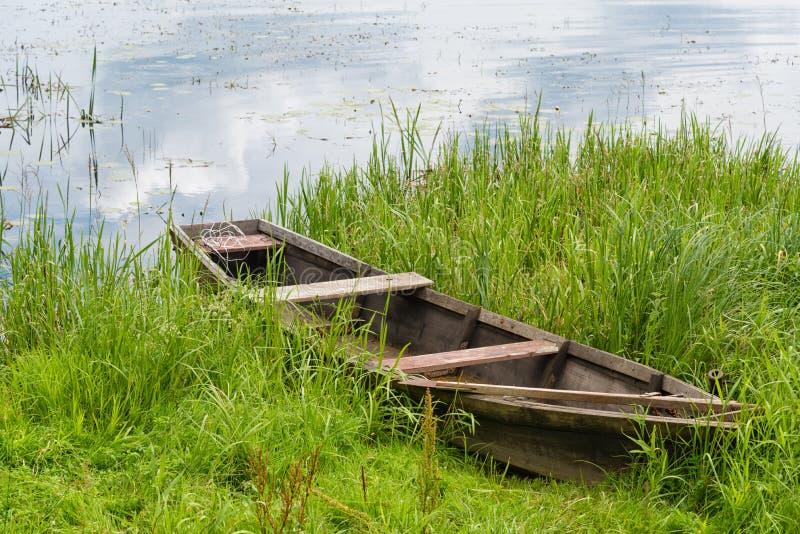 木渔船 库存图片