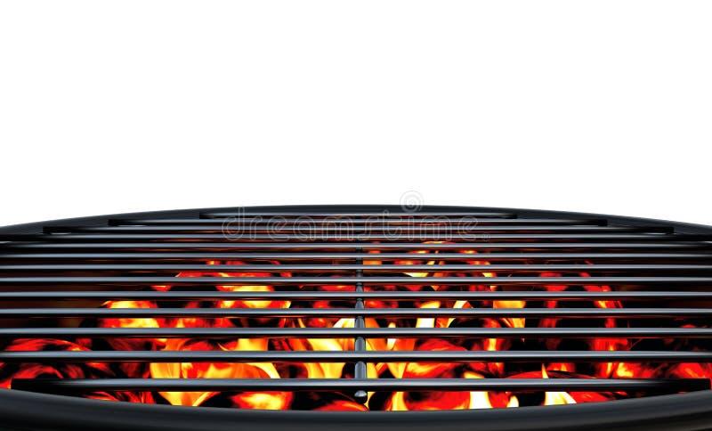 木炭格栅 向量例证
