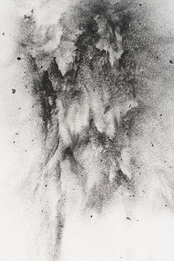 木炭粉末 免版税库存图片