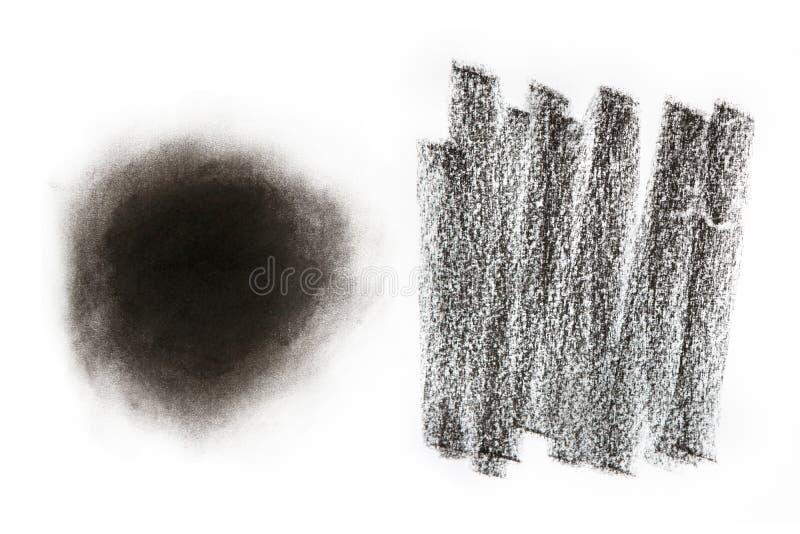 木炭纹理 库存例证