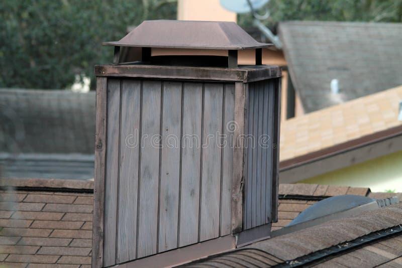 木烟囱 库存图片