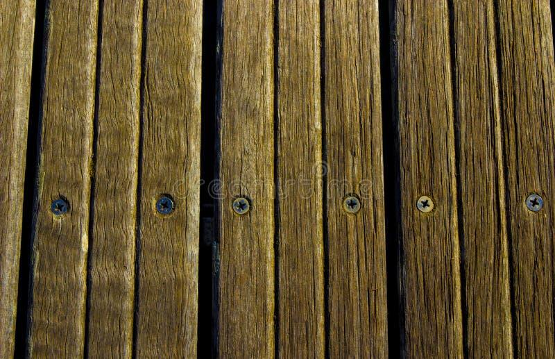 木片剂在船坞 库存照片