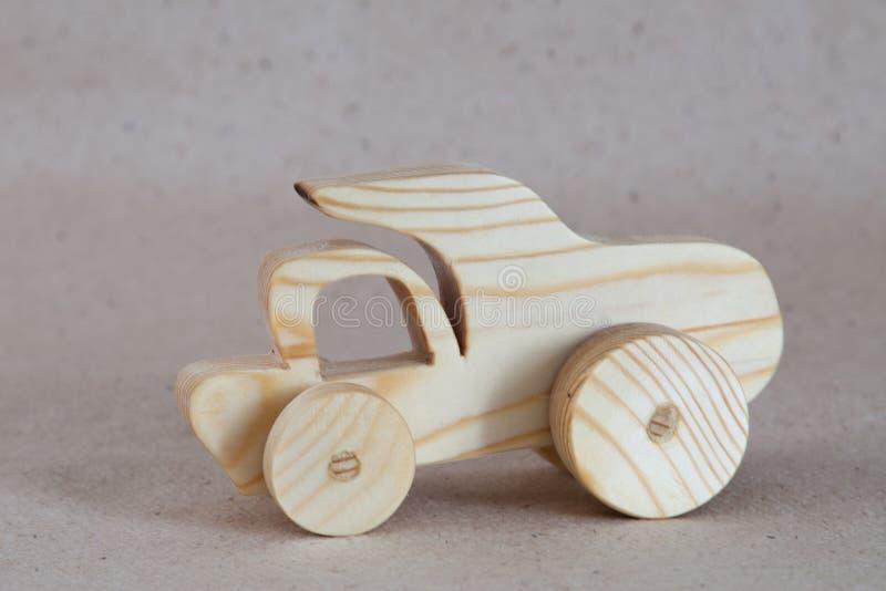 木玩具汽车卡车,倾销者 图库摄影