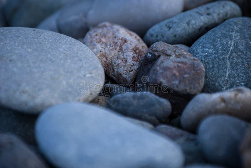 木瓦海滩或海滩石头 库存图片