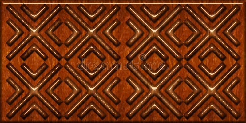 木瓦片样式 木几何形状,木地垫 优质无缝的现实纹理 对墙壁,网,卫生间 免版税库存照片