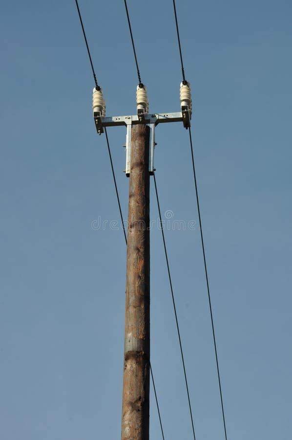 木电杆 免版税库存图片