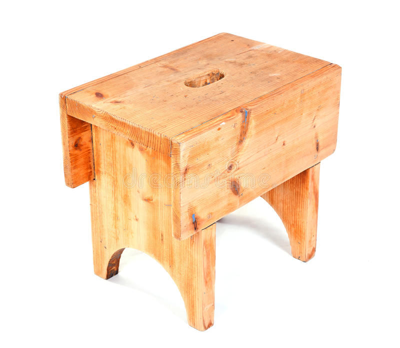 木的凳子 免版税库存图片