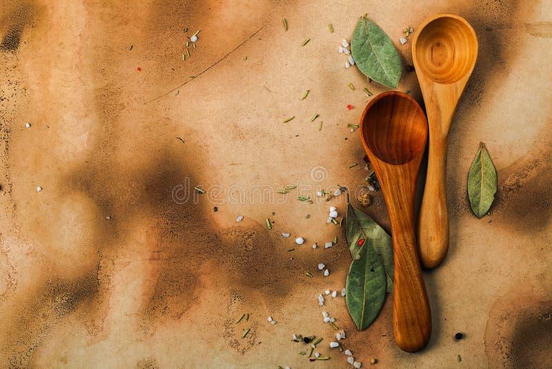 木的匙子二 免版税库存图片