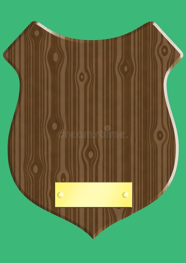 木的匾 库存例证