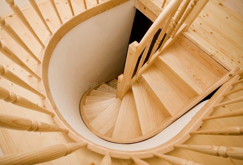 木的台阶 图库摄影