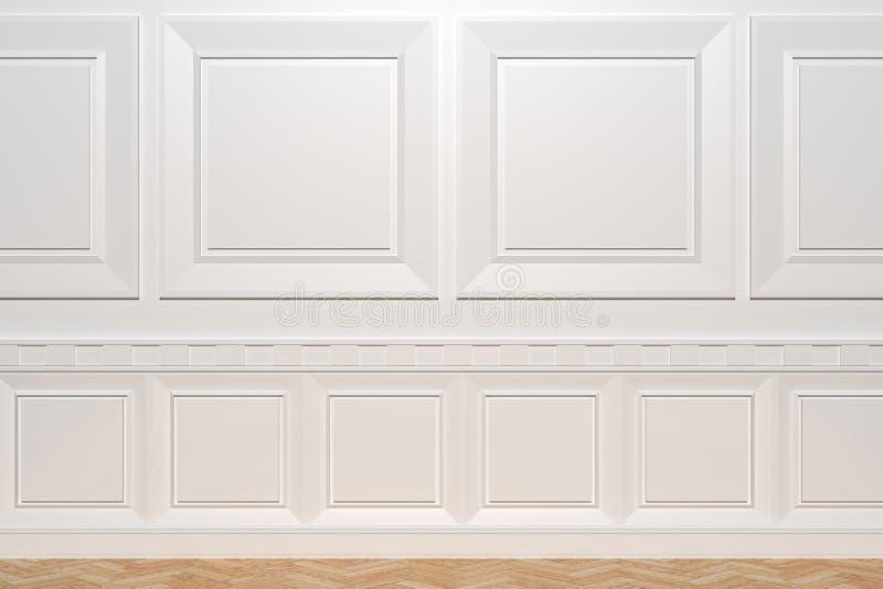 木的墙壁 库存例证