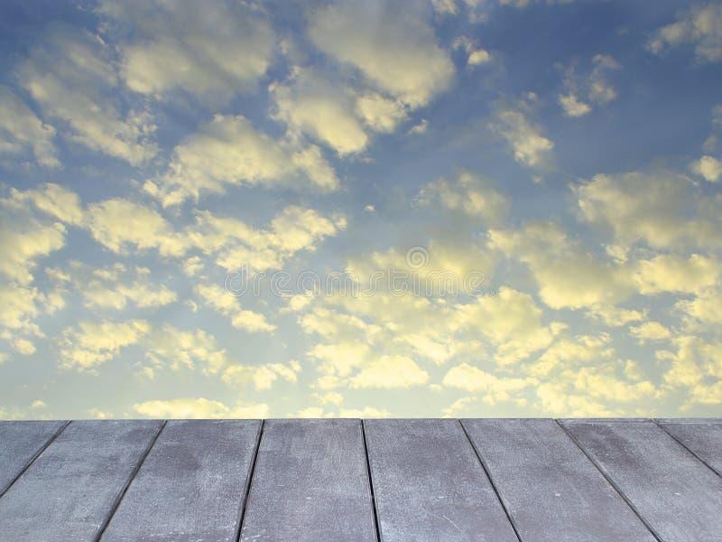 木的大阳台 图库摄影