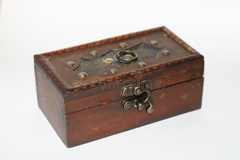 木的小箱 库存图片