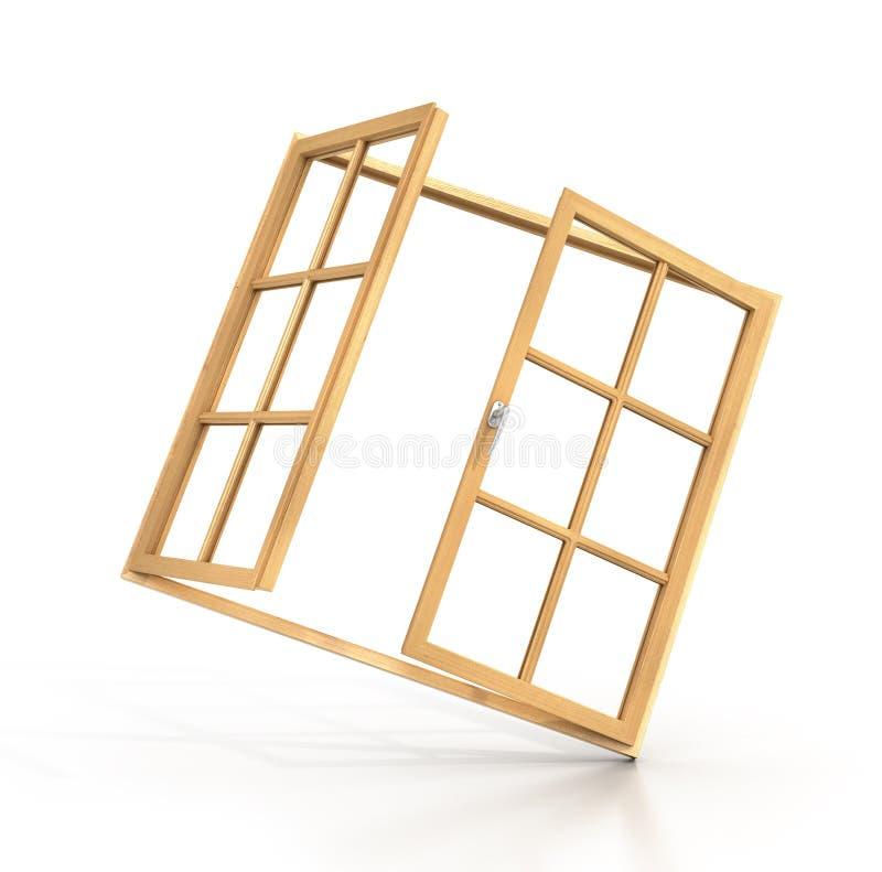 木的开窗口 皇族释放例证