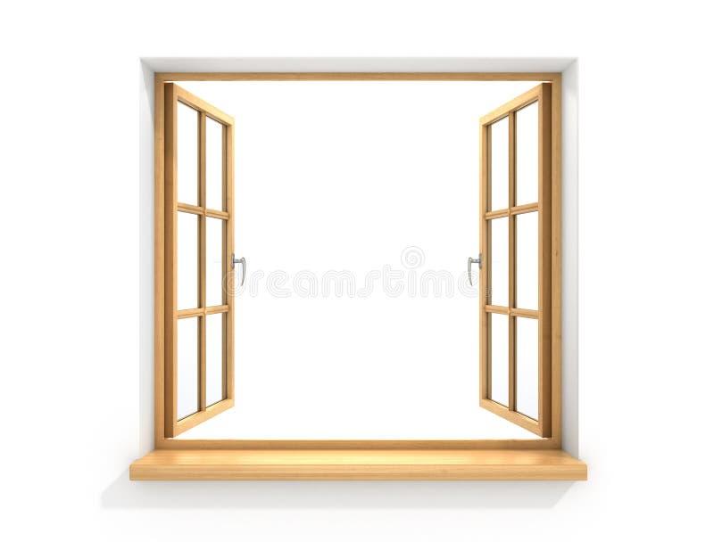 木的开窗口 向量例证