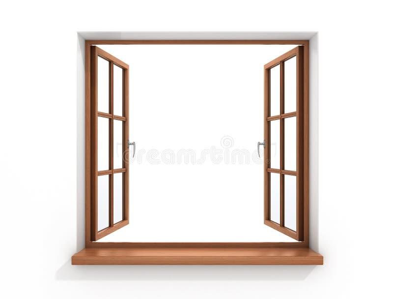 木的开窗口 库存例证