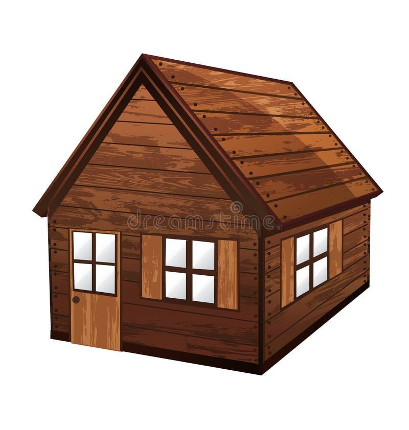 木的房子 库存例证