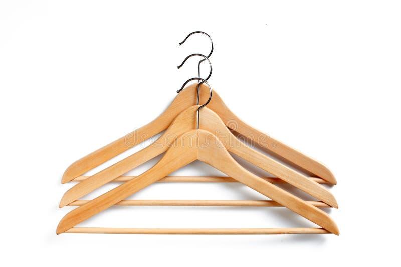 木的挂衣架 库存照片