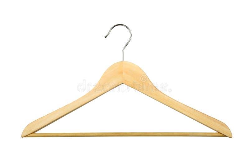 木的挂衣架 免版税库存照片