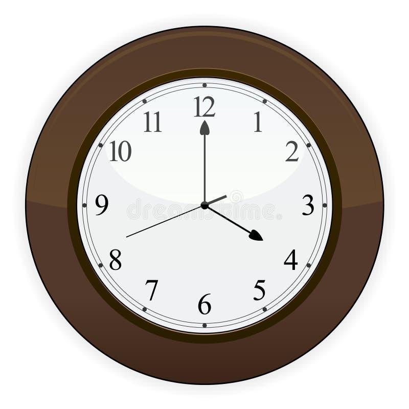 木的时钟 库存例证