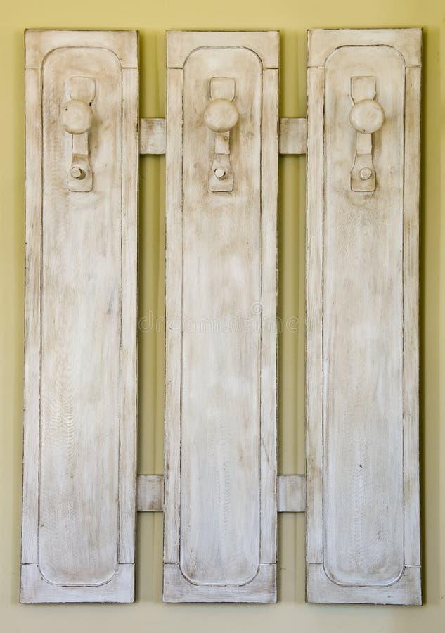 木的晒衣架 免版税库存照片