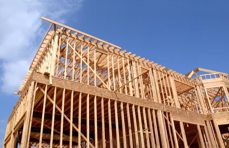 木的木屋 免版税库存照片