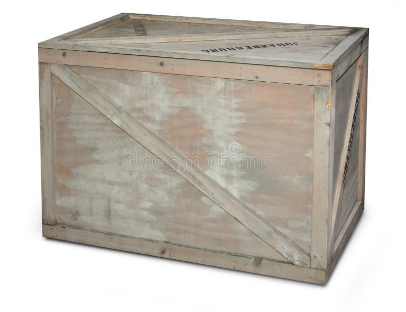木的条板箱 图库摄影