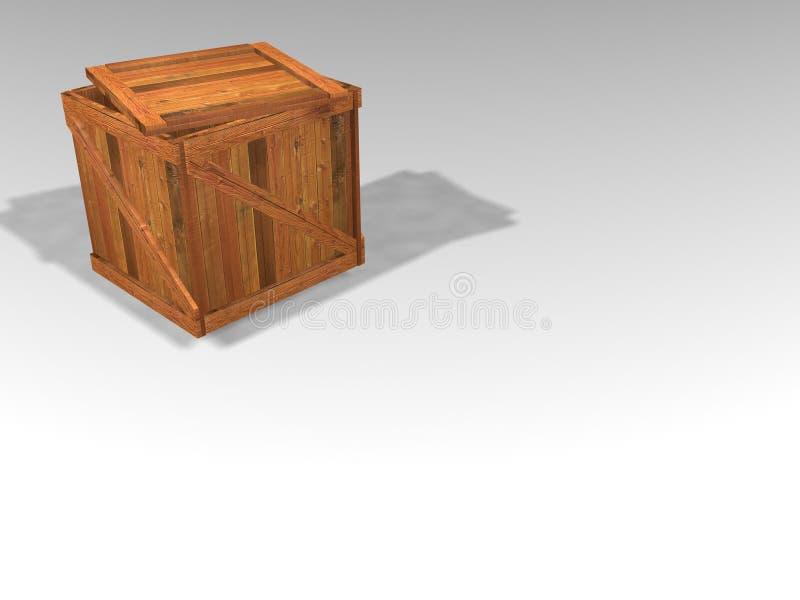 木的条板箱 库存例证