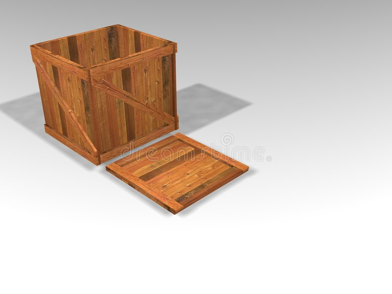木的条板箱 向量例证