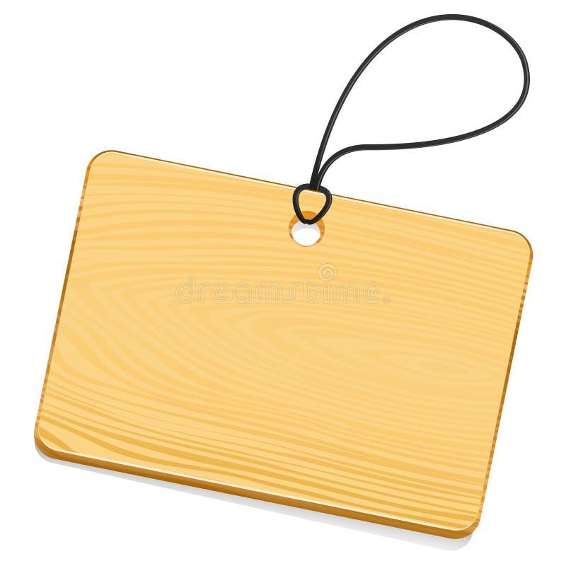 木的标签 库存例证