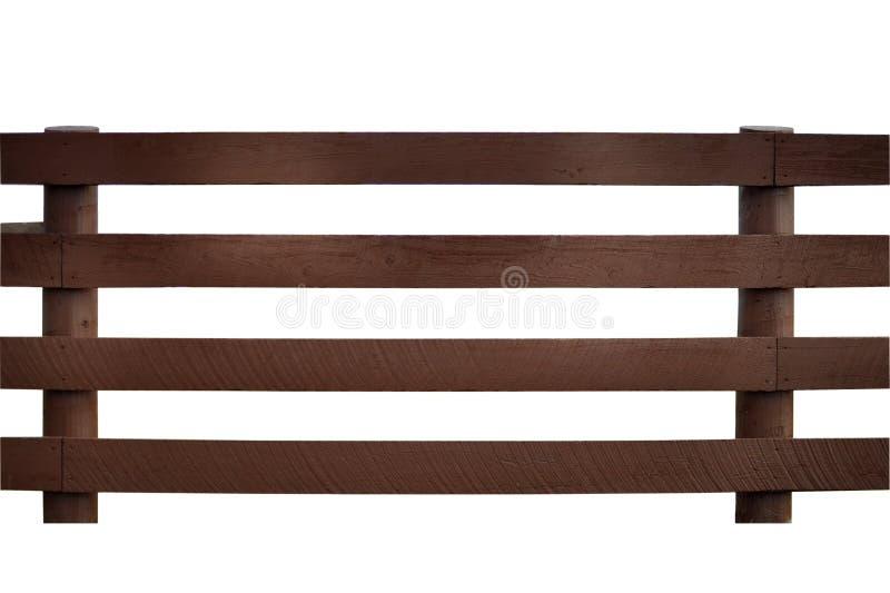 木的栏杆 免版税库存照片