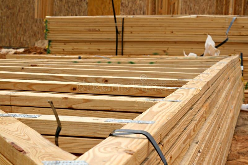 木的桁架 免版税库存图片
