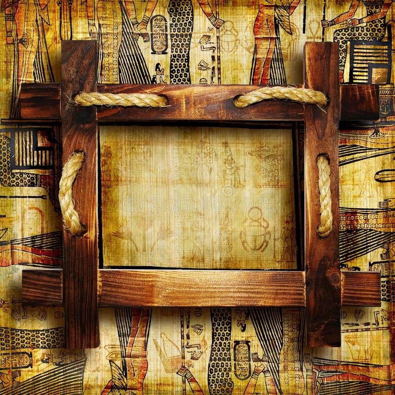 木的框架 库存例证