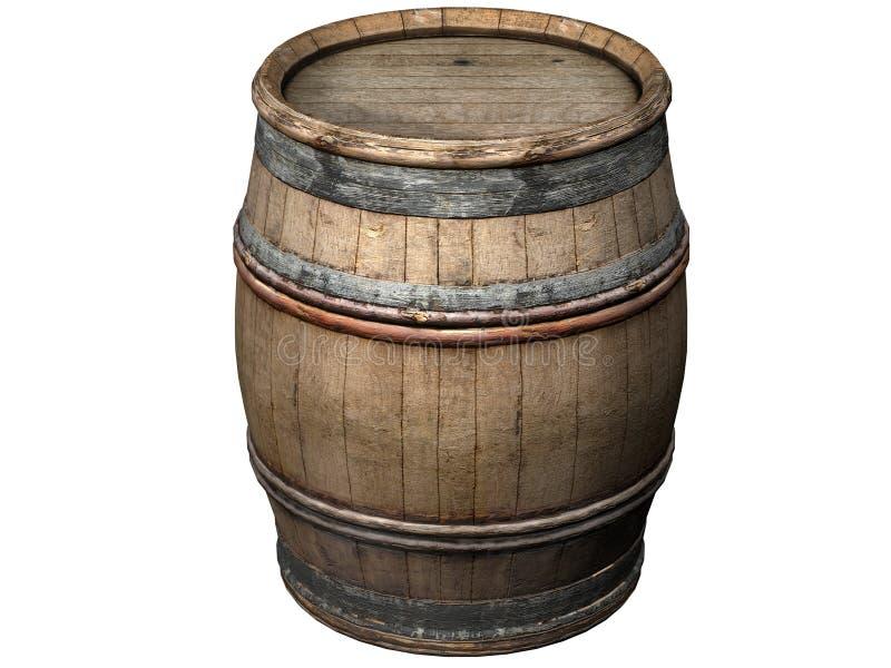 木的桶 库存例证