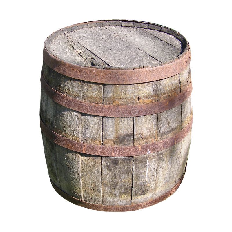 木的桶 免版税库存图片