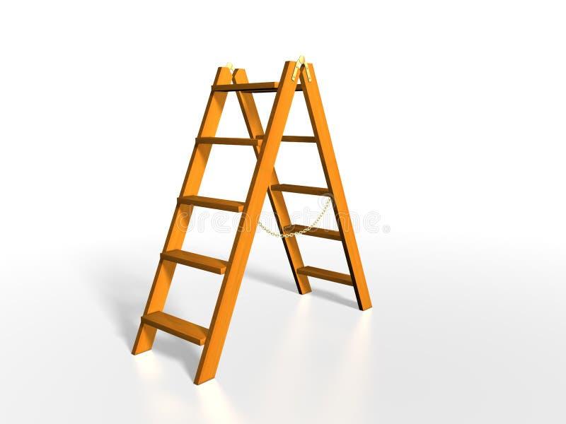 木的梯子 向量例证